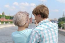 Free Young Couple In The City Stock Image - 9860961