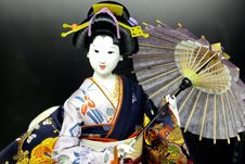 Free Geisha Doll Royalty Free Stock Image - 9861026