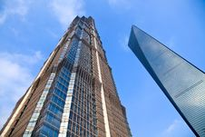 Free Skyscraper Of Shanghai Royalty Free Stock Photography - 9861607
