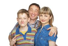 Free Mother, Father And Son Royalty Free Stock Photo - 9861685