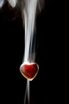 Free Red Heart In Smoke Royalty Free Stock Image - 9861746