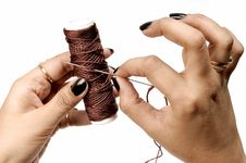 Free Thread Spindle And Needle Stock Image - 9861951