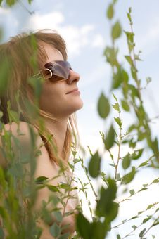 Beautiful Girl In Sunglasses Stock Images