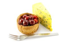 Free Pork Pie And Blue Cheese With Knife Royalty Free Stock Photo - 9862495