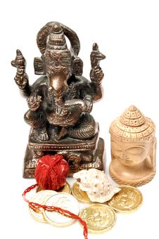 Free Lord Ganesha And Buddha Royalty Free Stock Images - 9863129