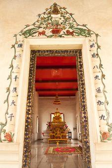 Buddha Image In Church Stock Photography