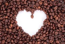 Free Coffee Heart Stock Image - 9863331