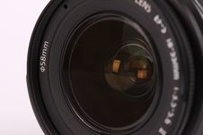 Lens For Digital Camera On White Background Royalty Free Stock Photos