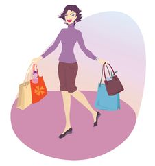 Free Happy Woman Shopping Royalty Free Stock Photo - 9864435