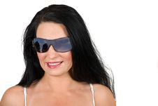 Free Woman Witth Sunglasses Royalty Free Stock Image - 9865036
