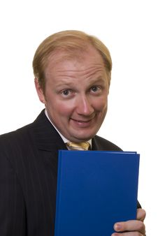 Businesman With Notepad Royalty Free Stock Photo