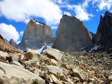 Rocks Of Southern Andes Royalty Free Stock Photography