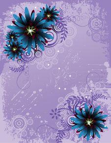 Free Vector Flower Illustration Royalty Free Stock Photos - 9865268