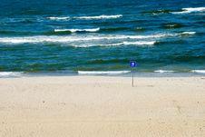 Free Empty Beach Royalty Free Stock Photos - 9865448