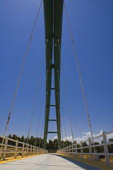 Free Suspention Bridge Royalty Free Stock Images - 9865569