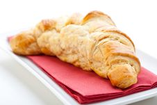 Free Delicious Freshly Baked Croissant Royalty Free Stock Image - 9865616
