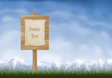 Free Wooden Sign Post Royalty Free Stock Image - 9866206