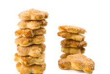Free Two Stacks Of Cookies Stock Images - 9866224