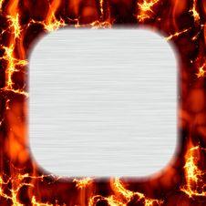 Free Brushed Metal Fire Frame Stock Image - 9866381