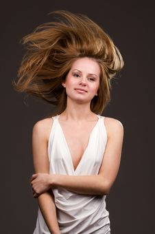 Free Flying Hair Royalty Free Stock Photography - 9866467