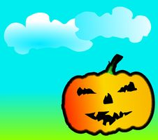 Free Happy Halloween Pumpkin Vector Stock Photo - 9866800