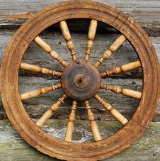 Free Closeup Hand Spinning Wheel Stock Photo - 9866880