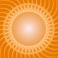 Free Yellow Swirl Background Stock Image - 9866901