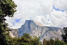 View Of Half Dome With Stormy Sky Stock Photography