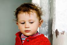 Free Broody Little Boy Stock Photo - 9867760