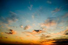 Free Bright Glowing Sunset Stock Image - 9868051