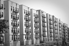 Free Row Of Buildings Royalty Free Stock Image - 9868256
