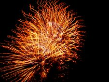 Free Stringy Fireworks Royalty Free Stock Images - 9868489
