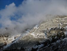 Cloud On Snow Moutain And Lake Royalty Free Stock Photos