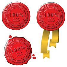 Sale Wax Stamp - Vector Set Stock Image