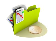 Free Crisis Currency Icon Stock Photo - 9869240