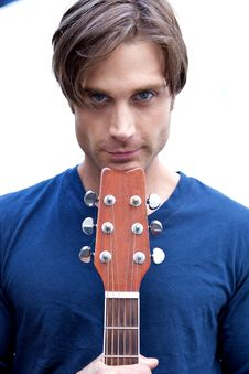 Free Attractive Guitar Player Stock Photo - 9869430
