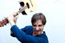 Free Attractive Guitar Player Stock Photos - 9869543