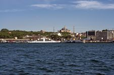 Free Istanbul - Ferry Passing Stock Image - 9869941
