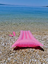 Free Beach Toys, Slip On Shoes On Beach Stock Images - 9876594