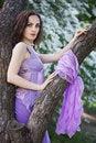 Free Tender Girl In The Garden Stock Images - 9876604