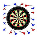 Free 10000px Dartboard+darts Royalty Free Stock Photography - 9878567