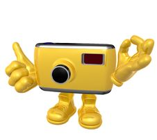 Free Mr Digital Camera Mascot Character Stock Images - 9872084