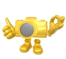 Free Mr Digital Camera Mascot Character Royalty Free Stock Photo - 9872095
