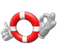 Free Lifebuoy Sos Icon Royalty Free Stock Photos - 9872278