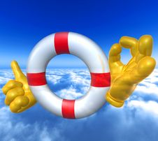 Free Lifebuoy Safer Royalty Free Stock Photography - 9872297