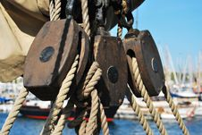 Free Rope On A Yacht Royalty Free Stock Photo - 9872365