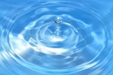 Free Blue Splashing Water Stock Photography - 9872482
