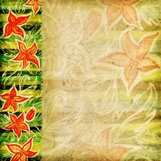 Free Striped Floral Background Royalty Free Stock Photo - 9872685