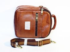 Free Brown Leather Handbag Royalty Free Stock Photos - 9873048