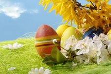 Free Easter Eggs Stock Image - 9873061